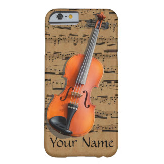 Violin Personalized Musical Notes Barely There iPhone 6 Case