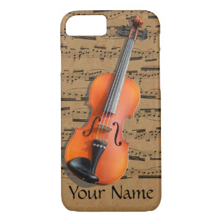 Violin Personalized Musical Notes iPhone 7 Case