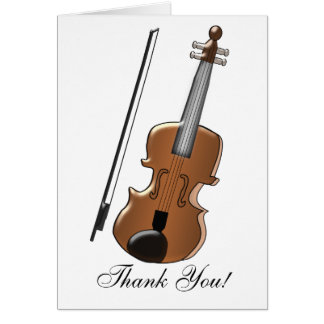 Violin Personalized Thank You Card