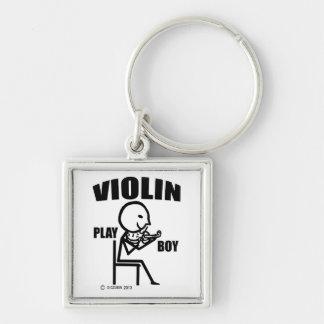Violin Play Boy Keychain