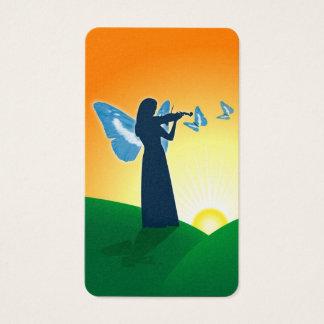 Violin Player & Butterflies Business Card