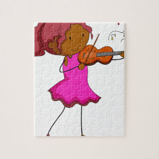 Violin player jigsaw puzzle