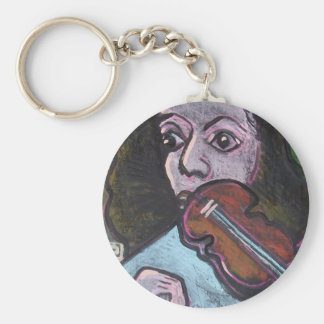 violin player keychain