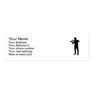 Violin player mini business card