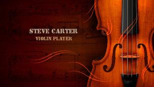 Music artist business cards templates zazzle violin player music instrument artist business card colourmoves
