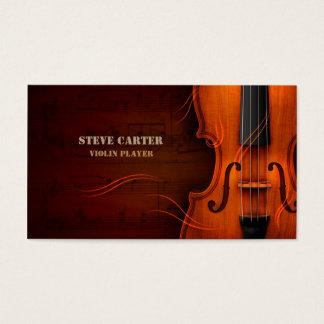 Violin Player Music Instrument Artist Business Card