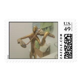 Violin Player Stamp