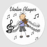 Violin Player Stickers Sticker