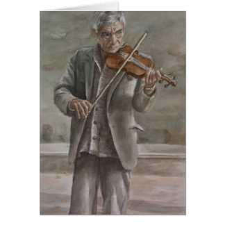 Violin Player, Subotica Card