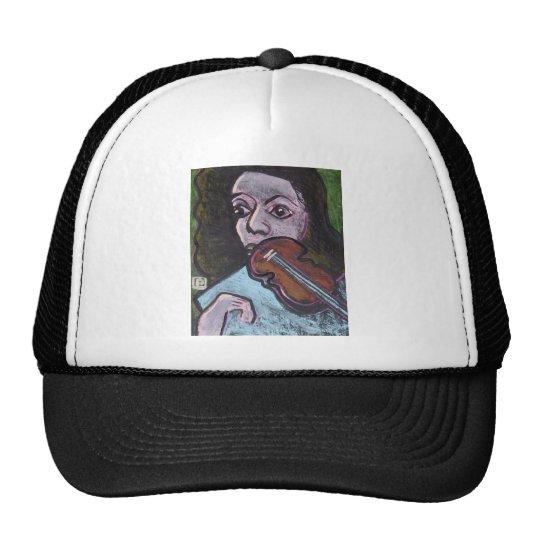 violin player trucker hat