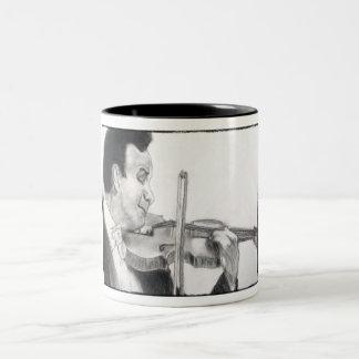 Violin Player Two-Tone Coffee Mug
