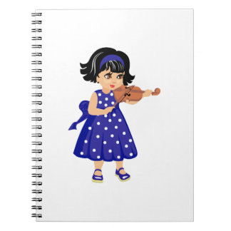 violin player young girl blue dress.png notebook