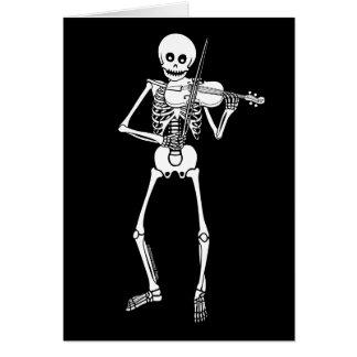 Violin Playing Skeleton Card