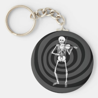Violin Playing Skeleton Keychain