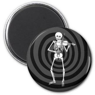 Violin Playing Skeleton Magnet