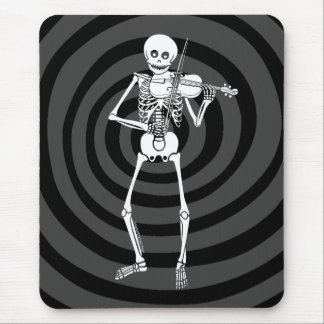 Violin Playing Skeleton Mouse Pad