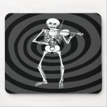 Violin Playing Skeleton Mouse Pads