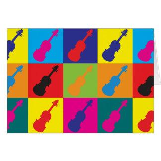 Violin Pop Art Card