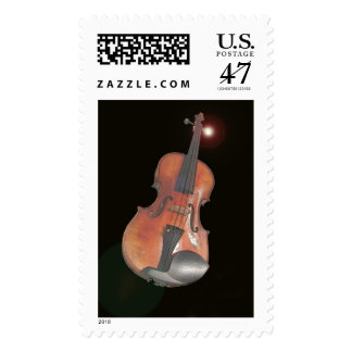 violin postage stamp