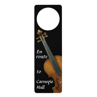 Violin Practicing for Carnegie Hall Door Knob Hanger