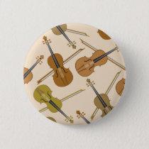 Violin Print Pattern Button