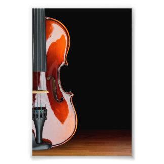 Violin Profile Closeup Photograph