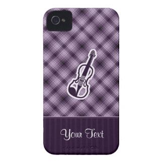 Violín púrpura iPhone 4 Case-Mate funda
