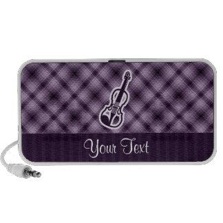 Violín púrpura iPod altavoces