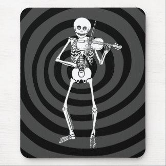 Violín que juega el esqueleto alfombrilla de ratón