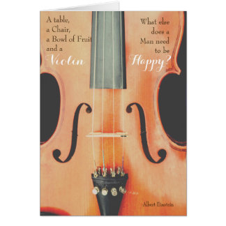 Violin Quote Greeting Card