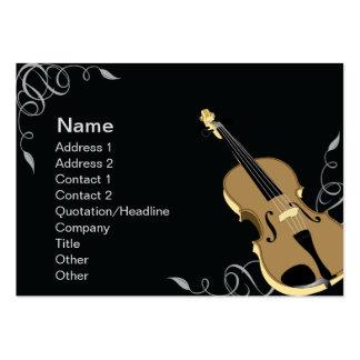 Violín - rechoncho tarjetas de visita grandes