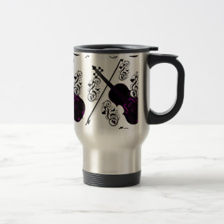Violin,Rocking love_ Travel Mug