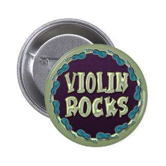 VIOLIN ROCKS 2 INCH ROUND BUTTON