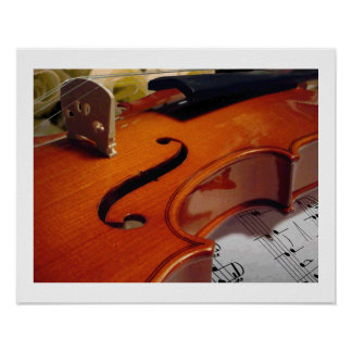 Violin Roses and Music Poster