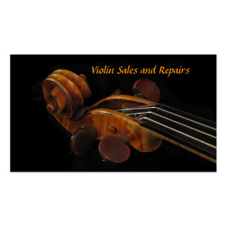 Violin Sales and Repairs Double-Sided Standard Business Cards (Pack Of 100)