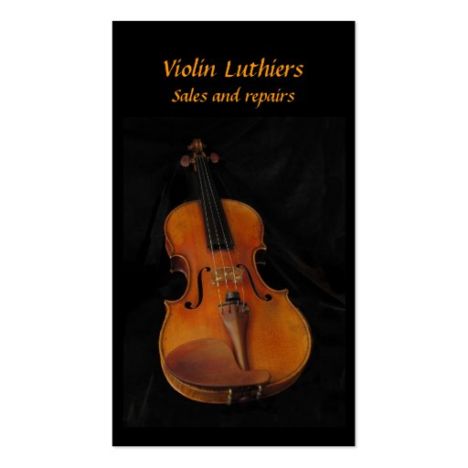 Violin Sales and Repairs Business Cards
