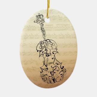 Violin Scrawl Bach Manuscript Ornament