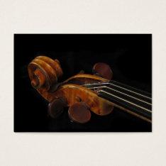 Violin Scroll ATC Business Card at Zazzle