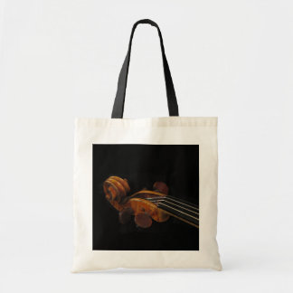 Violin Scroll Budget Tote Bag