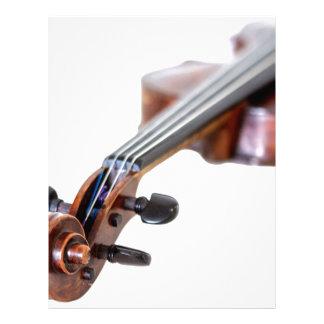 Violin scroll letterhead