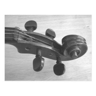 Violin scroll music teacher or violinist postcards