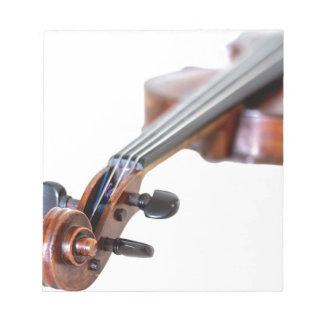 Violin scroll notepad