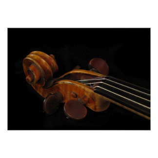 Violin Scroll Posters