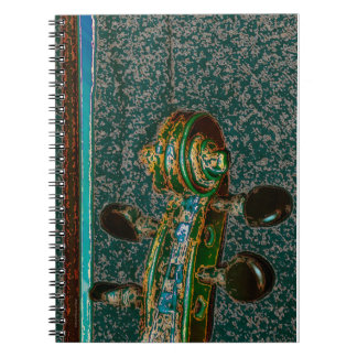 Violin Scroll Two Notebook