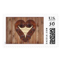 Violin Scrolls Forming Heart Postage