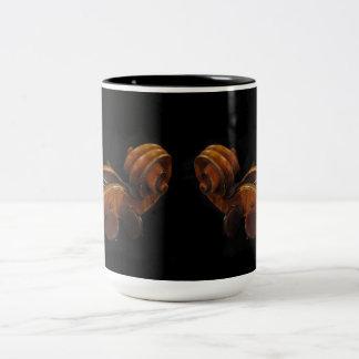 Violin Scrolls Two-Tone Coffee Mug