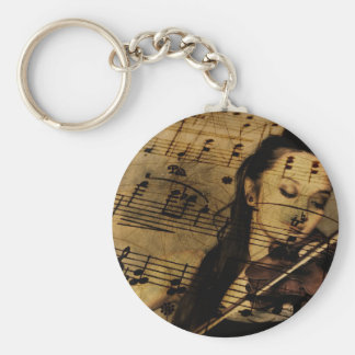 Violin Sheet Music Keychain