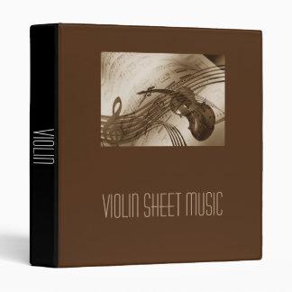 Violin Sheet Music student folder portfolio 3 Ring Binders