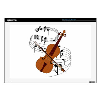 "Violin Decal For 17"" Laptop"