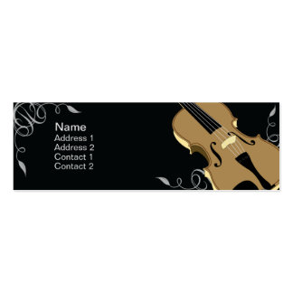 Violin - Skinny Double-Sided Mini Business Cards (Pack Of 20)